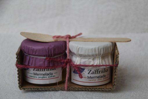 pack degustación mermeladas zaffralia. venta de azafrán